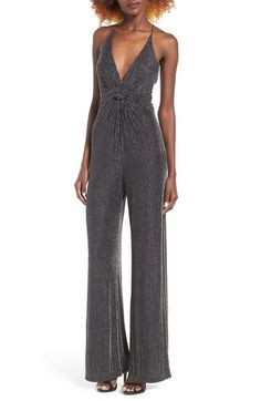 ASTR Brigitte Metallic Jumpsuit available at #Nordstrom