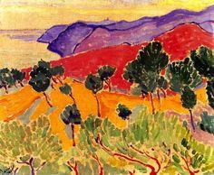 'Landschaft am Meer: Die Côte d Azur in der Nähe von Agay', öl auf leinwand von André Derain (1880-1954, France)