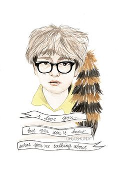 love it. Moonrise Kingdom Suzy and Sam watercolour portraits by ohgoshCindy.