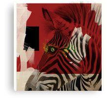 Canvas Print of 'Zebra 4.0' by Nola Lee Kelsey