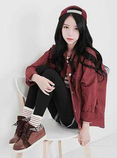 Korean Street Fashion Tumblr Korea Style Pinterest Camisa Vestido Estilos Urbanos