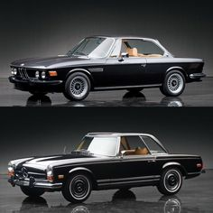 We take a look at two of the most classic coupes from BMW and Mercedes-Benz, the BMW CS Coupe and Mercedes Pagoda. Bmw E9, Classic Mercedes, Bmw Classic Cars, Auto Retro, Retro Cars, Vintage Cars, Carros Mercedes Benz, Mercedes Benz Autos, Mercedes Convertible