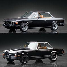 Classic Car Face Off: BMW 3.0 CS Coupe vs Mercedes-Benz 280SL Pagoda - http://www.bmwblog.com/2017/03/04/classic-car-face-off-bmw-3-0cs-coupe-vs-mercedes-benz-280sl-pagoda/