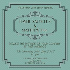 cool 8 1920s style wedding invitations