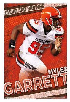 Cleveland Browns Myles Garrett Unframed Wall Poster