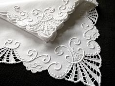 MARGHAB 16 Pc PLACEMATS NAPKINS Vintage Madeira Hand Embroidery Linen WHITEWORK #Marghab