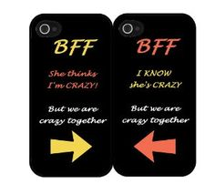 BFF Phone Cases! SO cute. Now all I need is a best friend, and an iPhone...