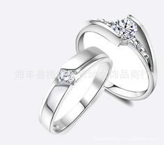 e08daf6a55 Supply lingering life couple rings wedding ring Korean version of the  influx of men and women who recommended Ring Specials