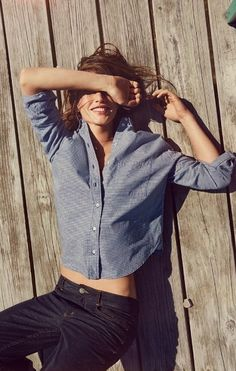 Casual button down and black jeans