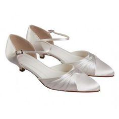 Rainbow Else Brandy Ivory Satin Low Heel Wedding Shoe