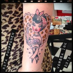 In progress... https://www.facebook.com/VorssaInk, http://tattoosbykata.blogspot.fi, tattoo, tattoos, kata puupponen, vorssa ink, forssa, finland, pin up, animal print, rockabilly, rockabella
