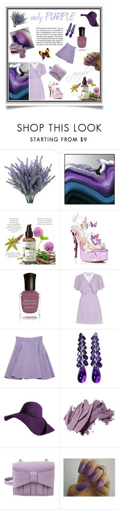 """Purple 4ever!"" by f04012001 ❤ liked on Polyvore featuring Crystal Art, Sugarbaby, Deborah Lippmann, River Island, Miu Miu, Bobbi Brown Cosmetics and Z Spoke by Zac Posen"