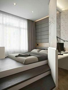 Tolle Idee Und So Schön Natürlich Dieses Schlafzimmer, Eine Gute Lösung  Wenn Man Wenig Platz Hat. Möbel Aus Sperrholz Machen Das Merke Ich Mir ...