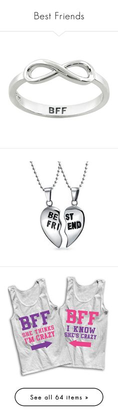 """""""Best Friends"""" by aubreyspringer ❤ liked on Polyvore featuring jewelry, rings, accessories, white, white ring, cocktail ring, infinity ring, wide sterling silver rings, infinity jewelry and necklaces"""