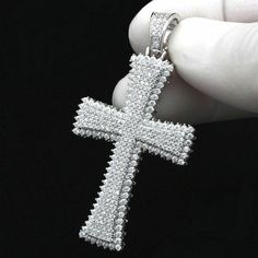 White Gold Certified Ct Round Diamond Cross Pendant For Women's Men's Blue Topaz Diamond, White Gold Diamonds, Colored Diamonds, Round Diamonds, Diamond Cross Necklaces, Lab Created Diamonds, Cross Pendant, Diamond Pendant, Diamond Cuts