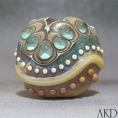 SRA+Handmade+Lampwork+Focal+Bead+Glass+Artisan+by+AKDlampwork,+$48.00