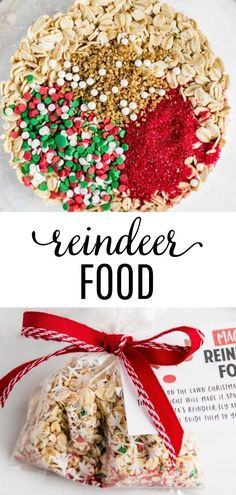 christmas activities Magic Reindeer Food - Such a fun and easy Christmas activity to enjoy with your family! Includes a FREE reindeer food poem for you to print and pass out as gifts! Christmas Eve Box, Christmas Treats, Holiday Treats, Simple Christmas, Kids Christmas, Christmas Cookies, Christmas Recipes, Christmas Parties, Diy Christmas Food Gifts