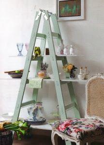 Cama Soft - Roupas de Cama em Malha Soft: 10 idéias para usar as velhas escadas na decoração
