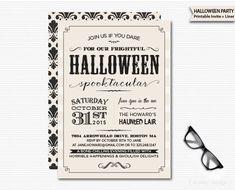 Vintage Halloween Invitation Printable Digital by MarleyDesign