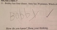 A 6-year-old boy provides a detailed description of how he correctly answered a math problem.