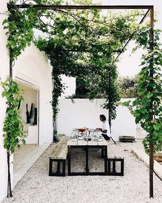 "just-good-design: ""Masseria Moroseta Photo: la sultana.s "" just-good-design: ""Masseria Moroseta Photo: la sultana.s "" The post just-good-design: ""Masseria Moroseta Photo: la sultana. Outdoor Rooms, Outdoor Gardens, Outdoor Living, Outdoor Decor, Outdoor Seating, Outdoor Kitchens, Outdoor Ideas, Shed Landscaping, Gazebos"