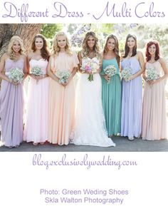 Bridesmaid Dresses - Eight Awesome Options - See more http://blog.exclusivelyweddings.com/2014/03/17/bridesmaid-dresses-eight-awesome-options/