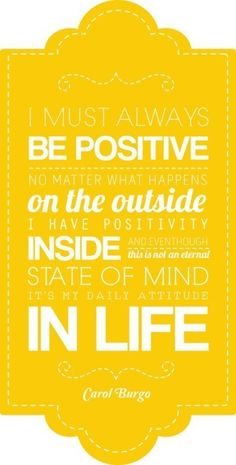BE HAPPY & BE POSITIVE!