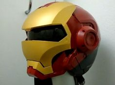 Iron Man Motorcycle Helmet. The only way my dads getting a motorcycle is if he gets us these.