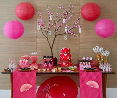 Ideas for geisha party Chinese Birthday, Japanese Birthday, Asian Party Themes, Asian Party Decorations, Party Ideas, Japanese Theme Parties, Cherry Blossom Party, Asian Tea, Chinese New Year Decorations