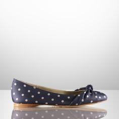 a4097b38771a Tadita Polka-Dot Ballet Flat - Ralph Lauren Collection - RalphLauren.com