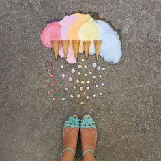 Rainbow gelato colour palette inspo.