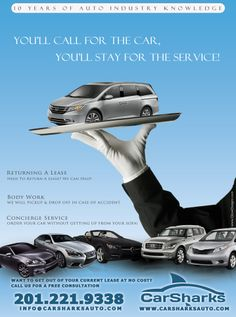 An ad we did for 'CarSharks Auto Leasing'