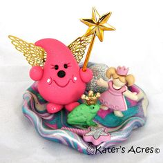FAIRYTALE PARKER  Polymer Clay Sculpted Character with Princess and Frog by KatersAcres
