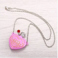 Just listed our new Love Potion Heart...!  Check it out here: http://hermajestysgoods.com/products/love-potion-heart-shaped-bottle-necklace?utm_campaign=social_autopilot&utm_source=pin&utm_medium=pin