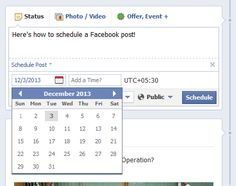 How to schedule your Facebook posts.