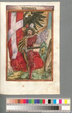 Colour Plate: German State Banners:  Memingen, Imperial City