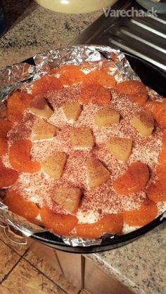 Mascarpone ovocná nepečená torta