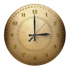 Golden Grunge Numbered Wallclocks. Lots more colours available.