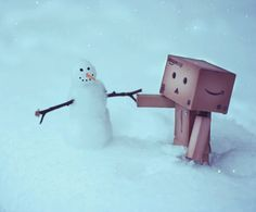 Say, Mr. Snowman, aren't you cold?