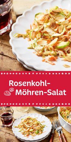 Wenn doch alles so einfach wäre wie gutes Essen zuzubereiten. Heute zeigen wir euch wie ihr einen fantastischen Rosenkohl-Möhren-Salat zaubern könnt.
