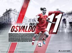 Pablo Osvaldo By Albertgfx by #AlbertGFX #football #wallpaper