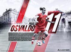 Pablo Osvaldo By Albertgfx by #AlbertGFX #football #wallpaper
