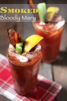 The ultimate Bloody Mary made with smoked tomatoes, smoked ice, and smoked bacon garnish. A brunch showstopper.