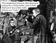 Fake violins...oh dear.