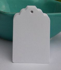 250 white paper tags   gift tags  wedding tags  merchandise