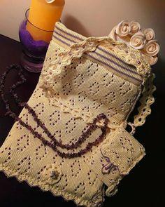 Elegant daily knit bag, elegante borsetta da occasione in maglia traforata