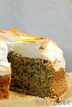 Osterrezepte Eierlikör- Mohn Kuchen mit Zitronenbaiserhaube
