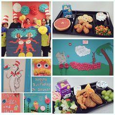 Rachel Petraglia Rock Springs ES in Gwinnett celebrating Dr. Seuss – at Rock Springs Elementary Cafeteria Food, Rock Springs, Board Ideas, Rocks, Happy Birthday, Kids Rugs, School, Food, Happy Brithday