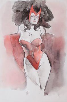 Scarlet Witch by Alex Maleev *