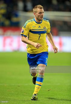 Sebastian Larsson of Sweden during the UEFA EURO 2016 Qualifying match between Sweden and Moldova at the National Stadium Friends Arena on October 12, 2015 in Stockholm, Sweden.